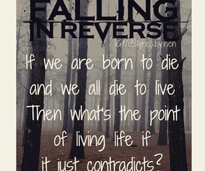 music lyrics, falling in reverse, and the drug in me is you image