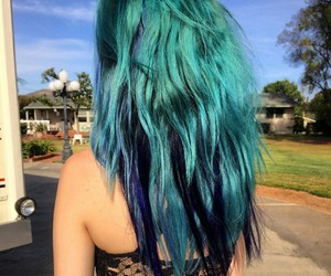 blue hair, party, and hair image