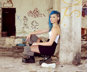 alternative, blue, and colored hair image