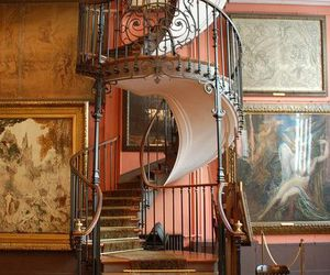 staircase, stairs, and vintage image