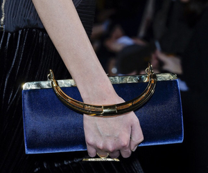 bag, clutch, and navy image