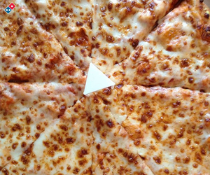 food and cheese pizza image