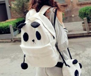 beautiful, girl, and backpack image