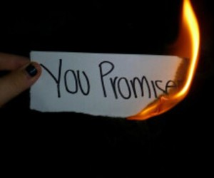 promise, fire, and sad image