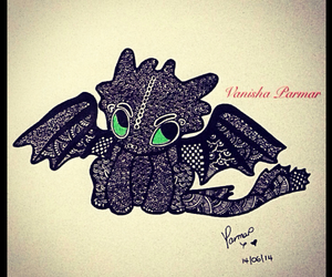 henna, how to train your dragon, and modern art image