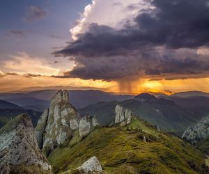 carpathians, clouds, and mountains image