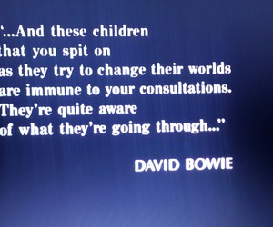 change the world, children, and david bowie image