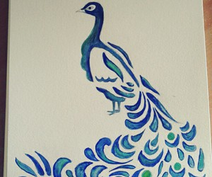 blue and peacock image