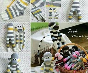 diy, monkey, and socks image