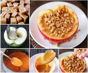 food, apple, and caramel image
