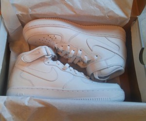 nike, nikeairforce1, and shoes image