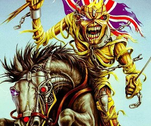 eddie, iron maiden, and metal image