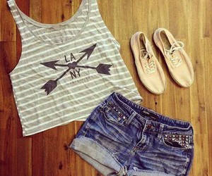 outfit, summer, and shoes image