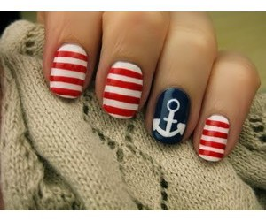 anchor, nails, and red image