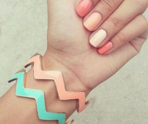bracelets, nail polish, and nail design image