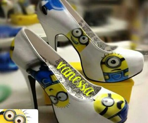 fashion, high heels, and minions image