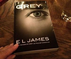 grey, christian grey, and book image
