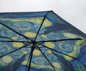 art, van gogh, and umbrella image