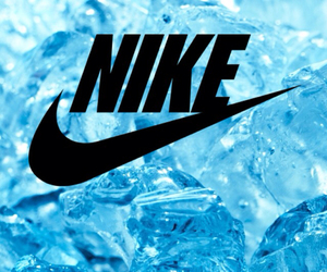 nike, background, and blue image
