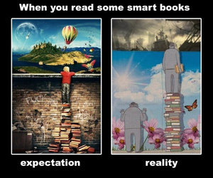 books, expectation, and reading image