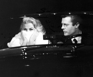 anita ekberg, black and white, and frank sinatra image