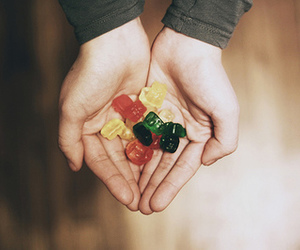 candy, hands, and bear image