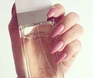 nails, perfume, and pink image