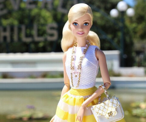 barbie, style, and yellow image