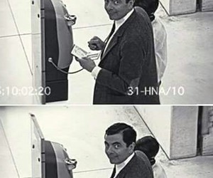 funny, mr bean, and camera image
