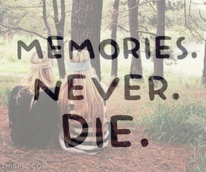 memories, never, and die image