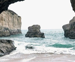 ocean, sea, and cave image