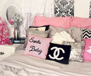 pink, chanel, and room image
