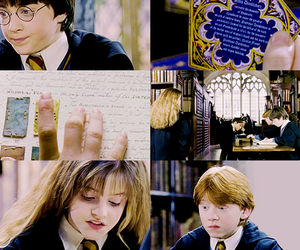harry potter, golden trio, and the sorcerer's stone image