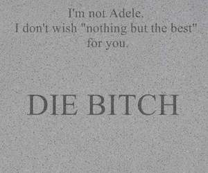 Adele, bitch, and text image