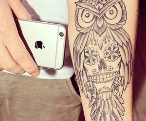 tattoo, owl, and iphone image