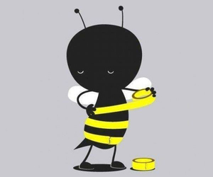 bee, yellow, and funny image