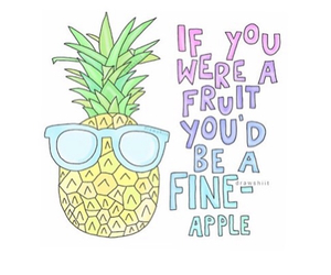 pineapple, overlay, and fruit image