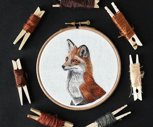 embroidery and fox image