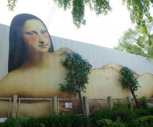 art, wall, and da vinci image