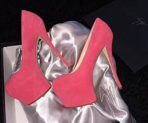 girl, heels, and pink image