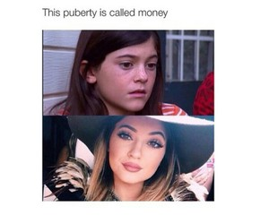 funny, money, and kylie jenner image
