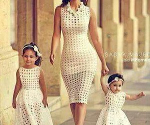 dress, family, and mom image