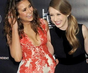 Nina Dobrev, taissa farmiga, and girls image