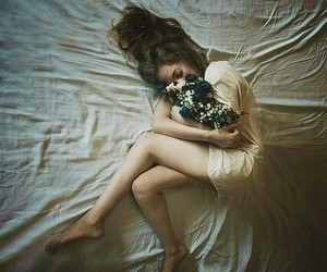 alone, bed, and love image