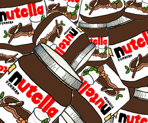 food, nutella, and wallpaper image