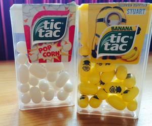 minions, Pop cOrn, and tic tac image