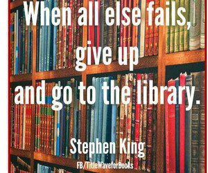 books, library, and Stephen King image