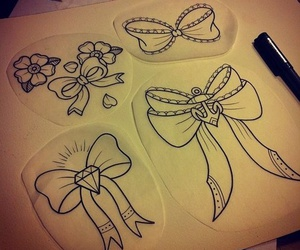 draw, tattoo, and ink image