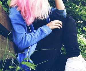 colored hair, grunge, and girl image