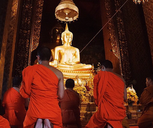 asia, Buddha, and monks image